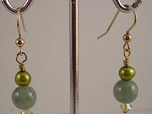 Jade Gemstone Earrings #E3669
