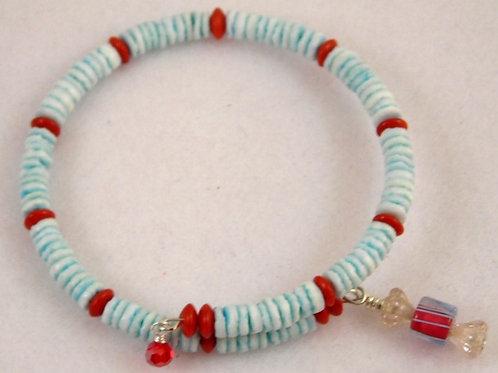 Shell beads Bracelet & Earring Set