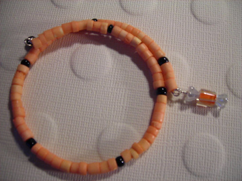 Bone beads Bracelet & Earring Set. #B3142