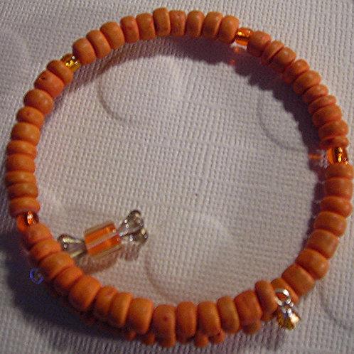 Wood beads Bracelet & Earring Set. #B3139