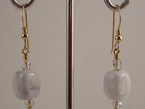 Howlite Gemstone Earrings #E3702