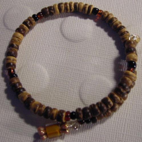 Coconut shell beads Bracelet & Earring Set
