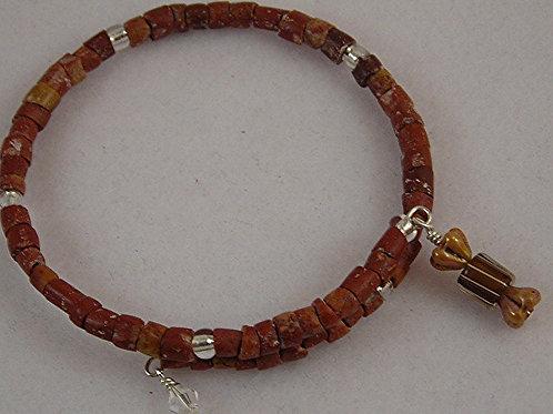 Stone beads  Bracelet & Earring Set. #B3602
