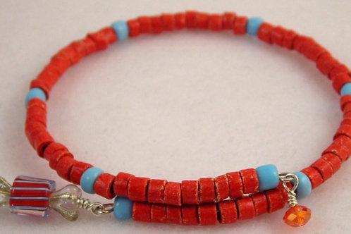 Stone beads Bracelet & Earring Set