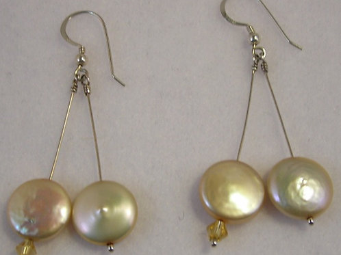 Freshwater Pearls Long Earrings