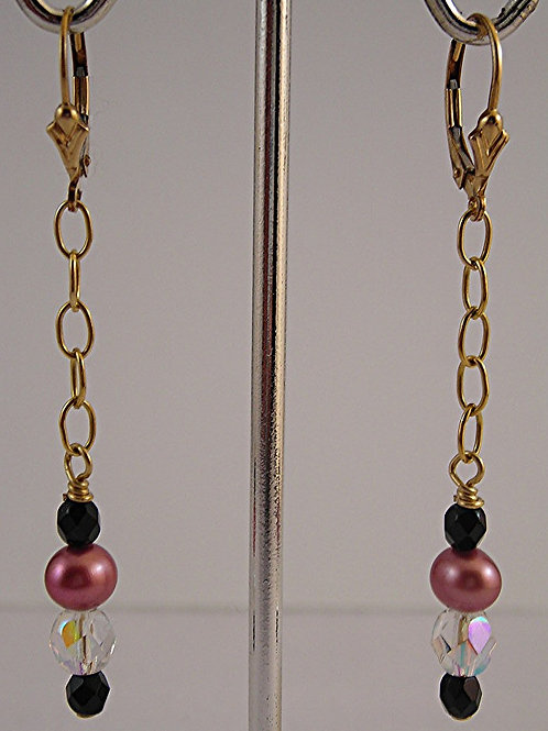 Freshwater Pearls Long Earrings:  #E3791