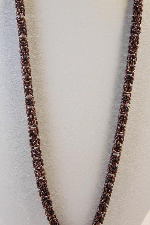 Byzantine Weave Necklace Brown