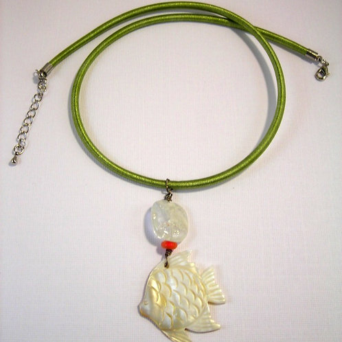 Mother of Pearl Fish Necklace