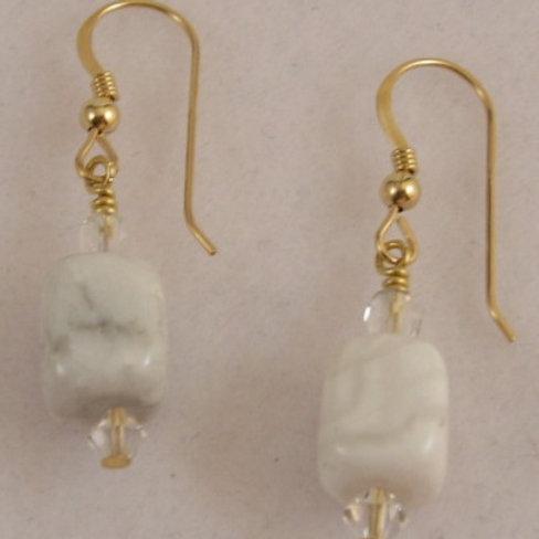 Howlite Gemstone Earrings