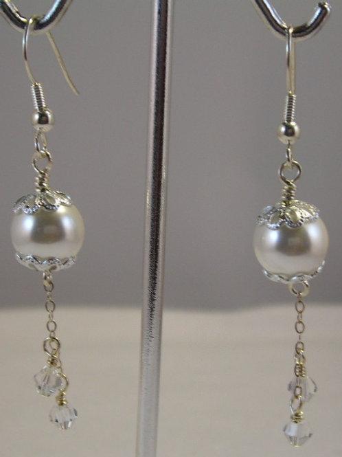 Seashell pearls Long Earrings