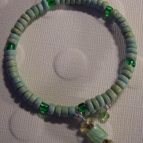 Wood beads Bracelet & Earring Set