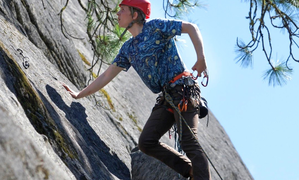 Climbing some gnarly slab in Leavenworth.