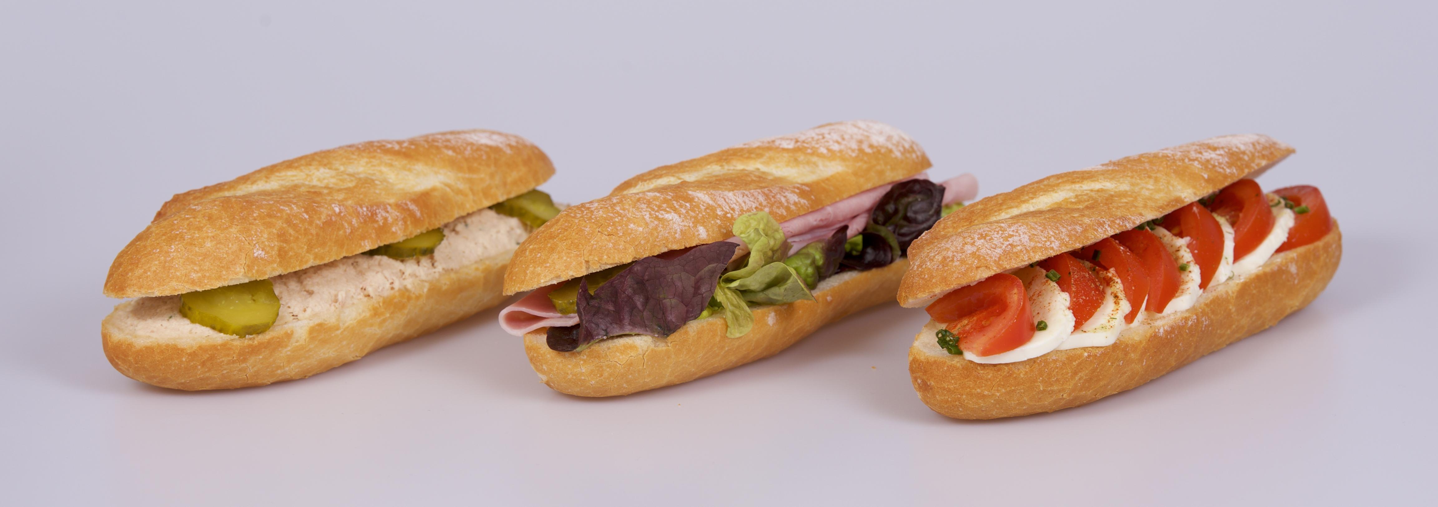 Diverse Parisette-Sandwiches