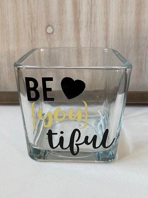 Be (you) tiful Glass Jar
