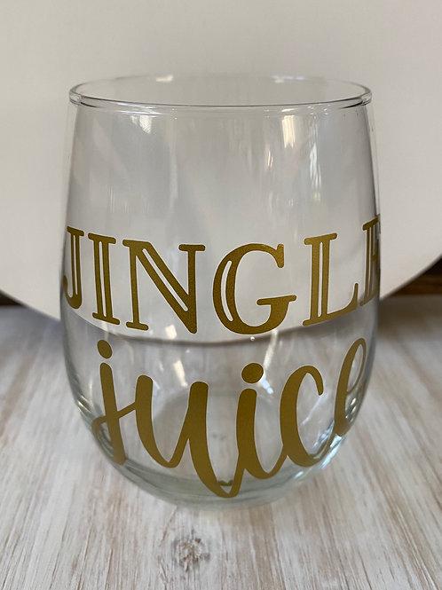 Jingle Juice Wine Glass