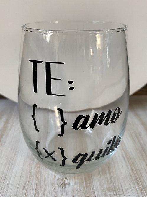 Te: quila Wine Glass