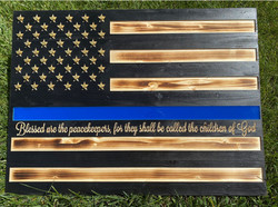 Blessed Are The Peacekeepers Wooden Flag