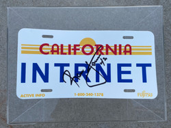 Ronnie Lott Signed (Plastic) License Plate