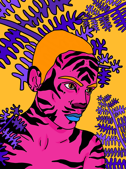 She Became A Tiger - pink