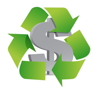 Recycling commodity rebates