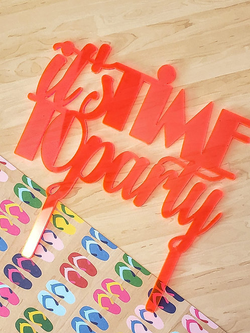 NEON FINISH - CAKE TOPPER