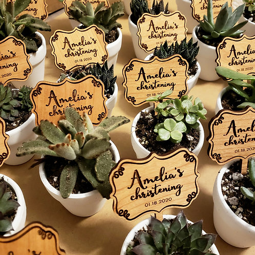 WOOD FINISH - FAVORS TAGS