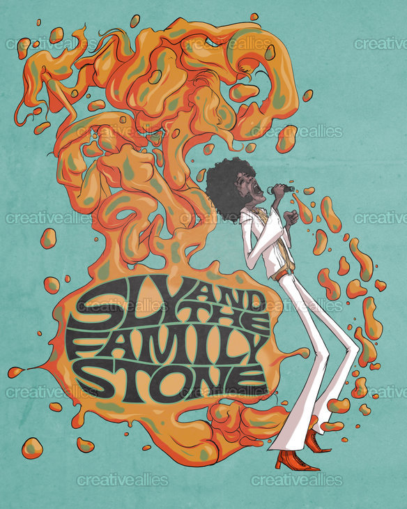 Sly and the Family Stone Poster