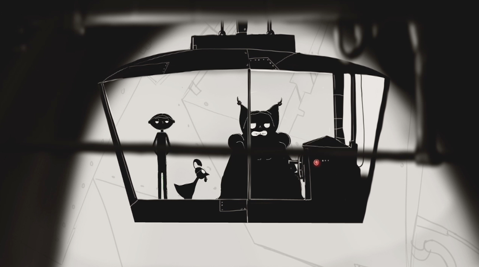 elevator scene 2D animation