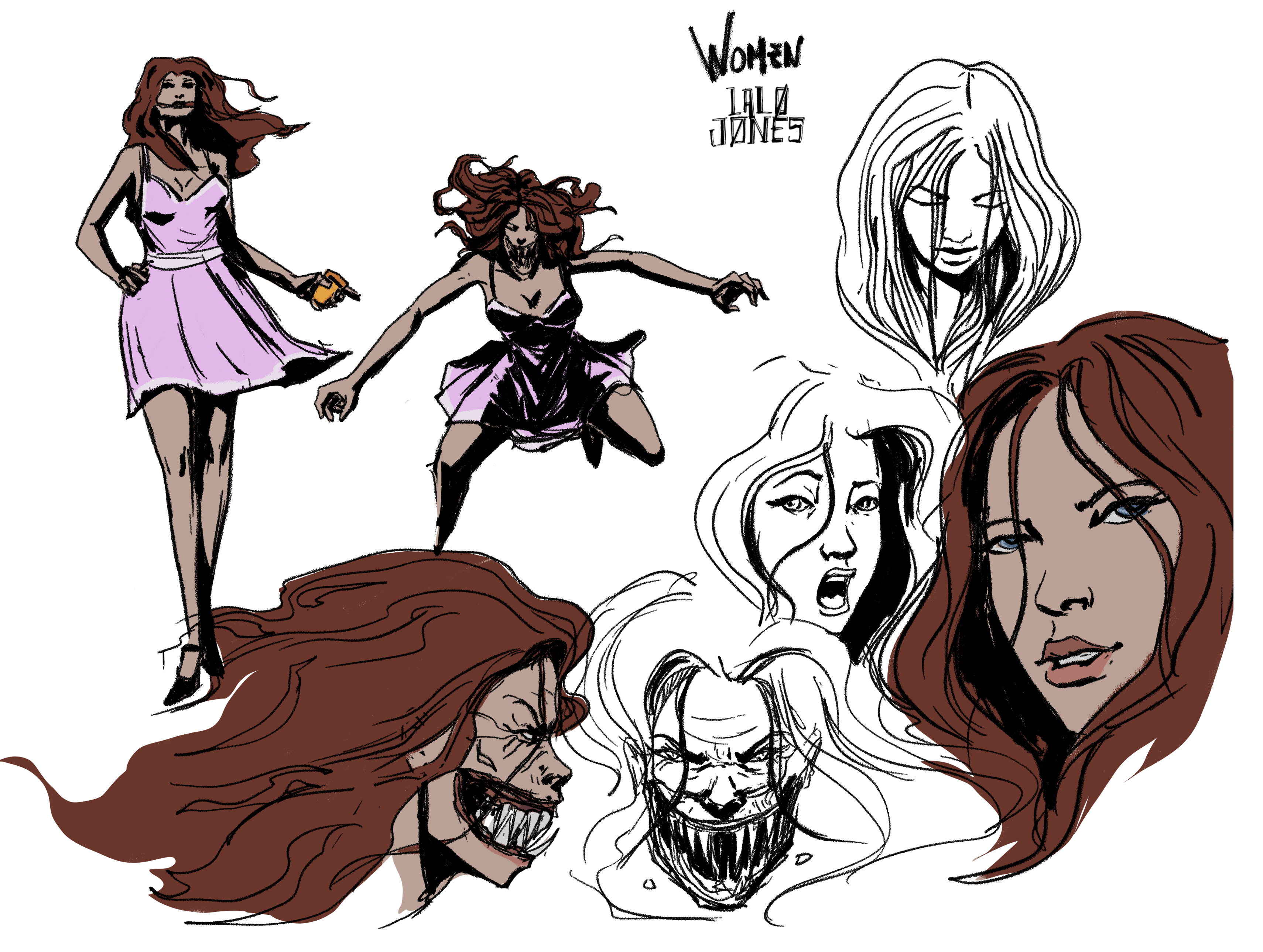 woman character concept