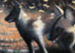 HENDERSON_Dogs With Tar Pits_2019_Acryli
