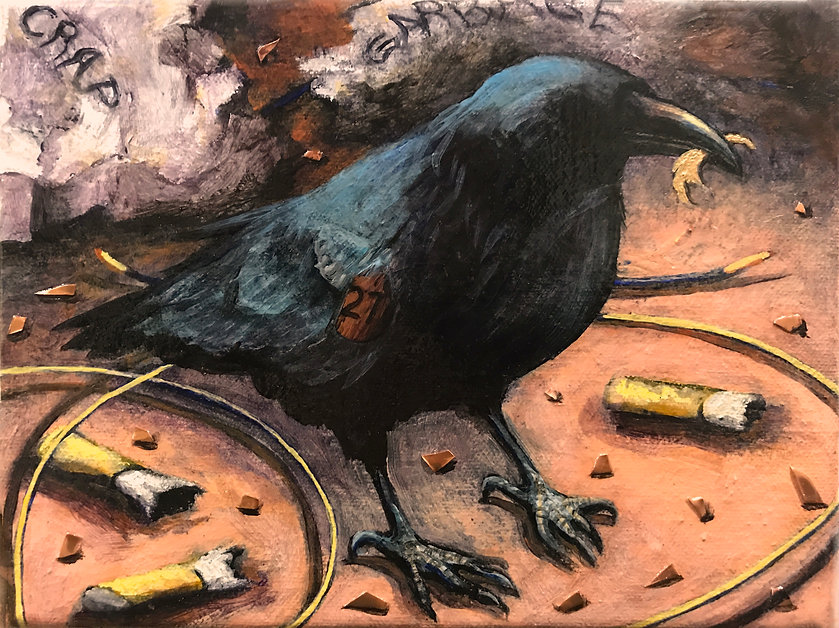 HENDERSON_RAVEN #27_ACRYLIC ON CANVAS w
