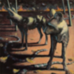 HENDERSON_LYNETTE K_ DOGS AT NIGHT_ACYRL