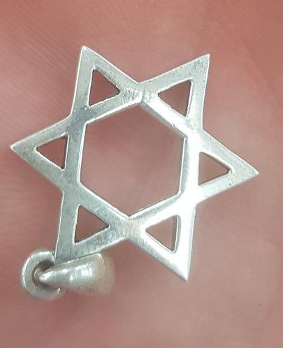 Silver Star of David medallion