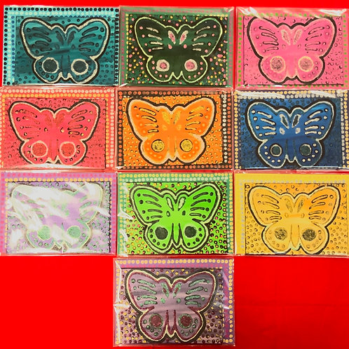 Hand Painted Butterflies (Assorted Colours)