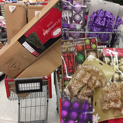 We don't just shop, we shop with love ❤️#christmastrees #giveaways #families