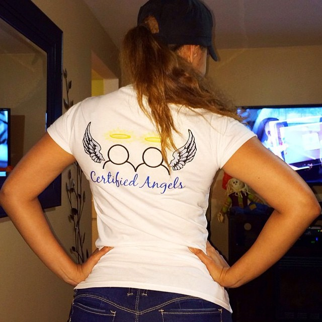Instagram - @joleposh loving her @certifiedangels_ tee shirt Inspiring 🌟 Motiva
