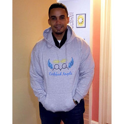 Will Genao rockin' his CA hoody! 🙌🏽 Thank you Will, for supporting Certified Angels + helping our