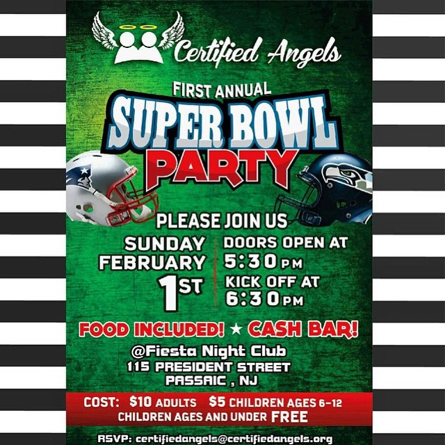 Instagram - Come join @certifiedangels_ as we host our 1st Annual Super Bowl Par