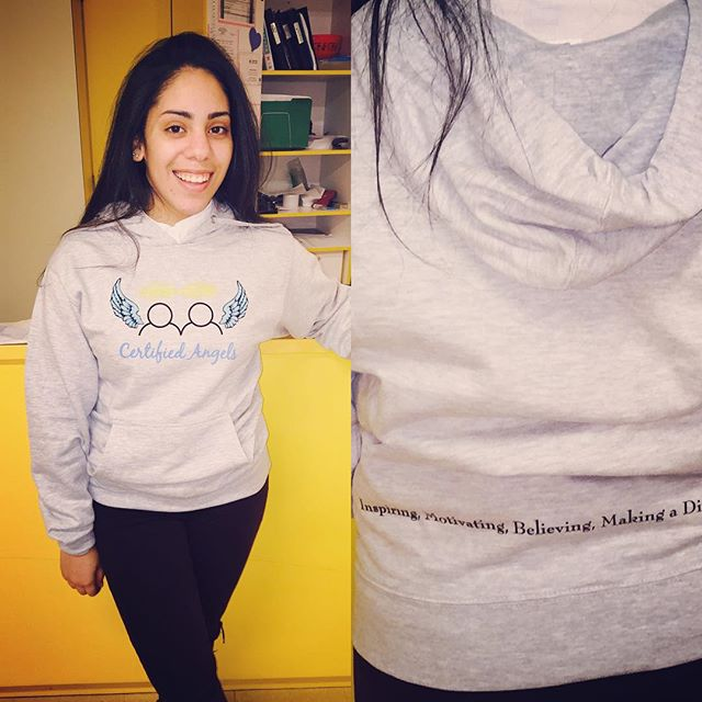 Thank you _tiffpiff_ for purchasing your CA hoody and for supporting Certified Angels 🙌🏽 👼🏼💙 #C