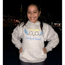 Shout out to this little angel, Valery for supporting Certified Angels and helping our youth spread