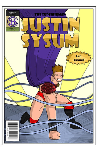 #SuperHuman Issue 1 Cover Artwork