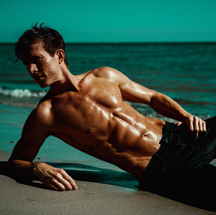 Lucas Seiler on the beach