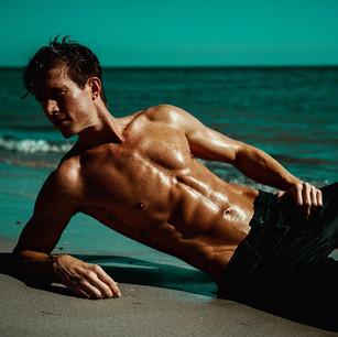 Lucas Seiler on the beach