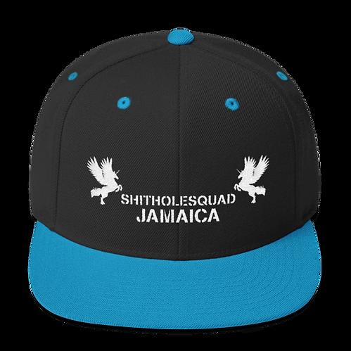 shithole jamaica black snapback.png