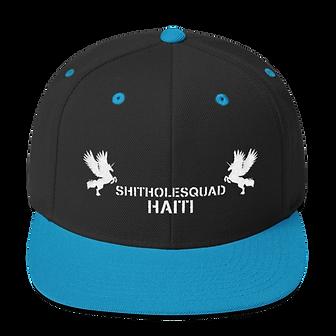 shithole haiti black snapback.png