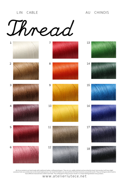 au chinois linen thread