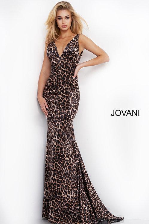 Jovani 8011 Animal Print