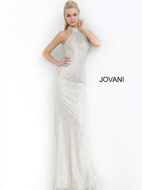 Jovani 3833 Nude/Silver