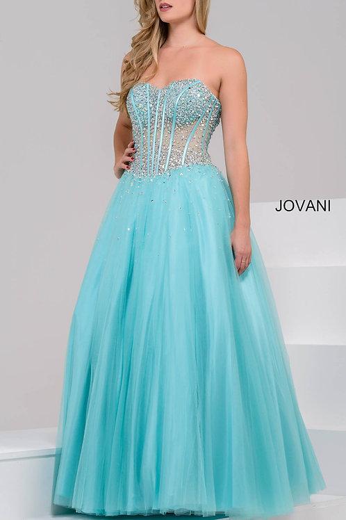 Jovani 1332 Tiffany Blue