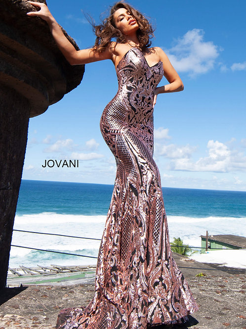 Jovani 2670 Black/Rose